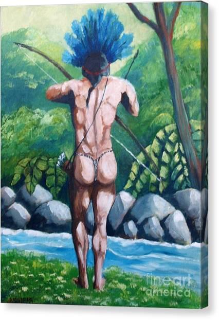 Amazon Native Canvas Print
