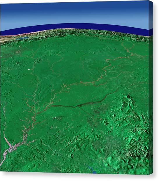 Amazon River Canvas Print - Amazon Rivers by Worldsat International/science Photo Library