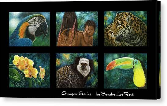 Amazon Series Collage Canvas Print