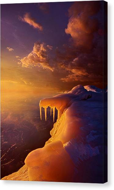 Ice Caves Canvas Print - Amber By Morning Light by Phil Koch