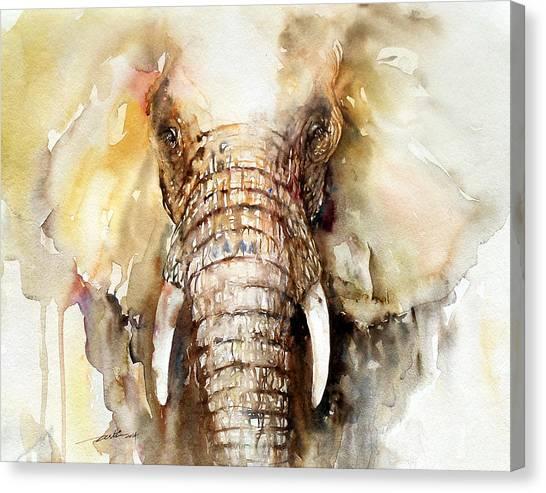 Amber Elephant Canvas Print