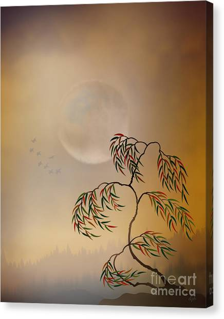 Weeping Willows Canvas Print - Amber Vision by Peter Awax