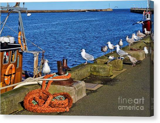 Amble Quayside Canvas Print