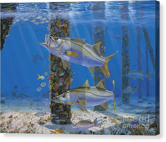 Spearfishing Canvas Print - Ambush In0027 by Carey Chen