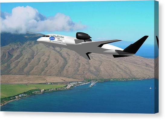 Cal Poly Canvas Print - Amelia Hybrid Aircraft by Nasa/cal Poly
