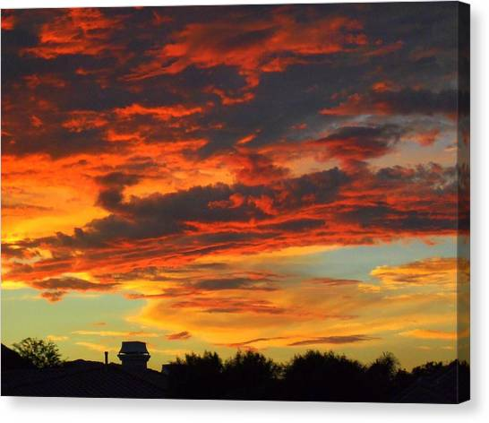 Amelia Sunsets 23 Canvas Print