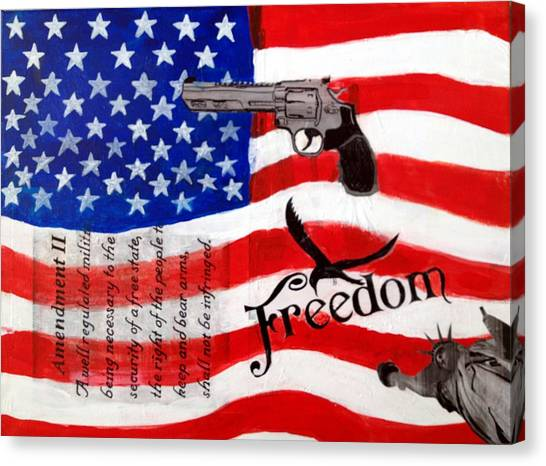 Amendment II Canvas Print by Made by Marley