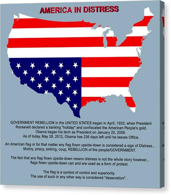 Us Civil War Canvas Print - America In Distress by Bruce Iorio