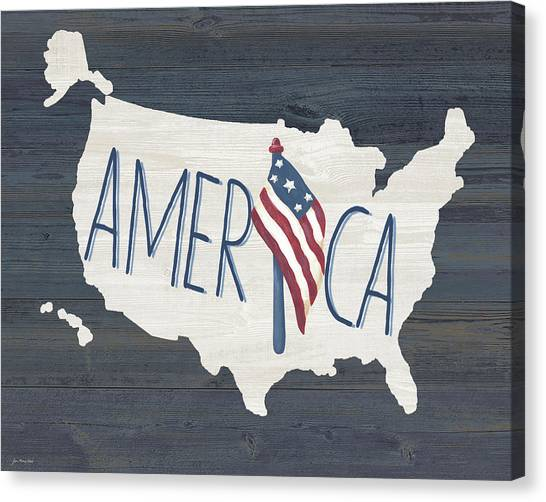 United States Of America Canvas Print - America by Jo Moulton