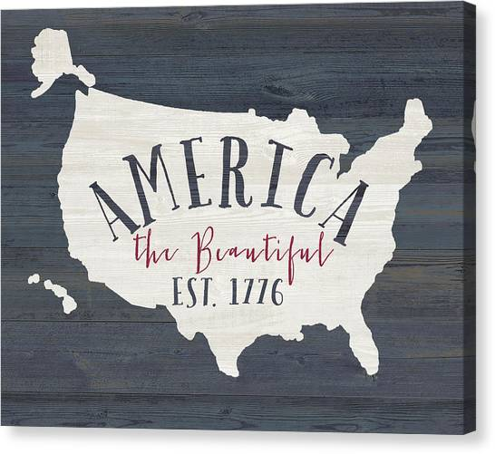 United States Of America Canvas Print - America The Beautiful by Jo Moulton