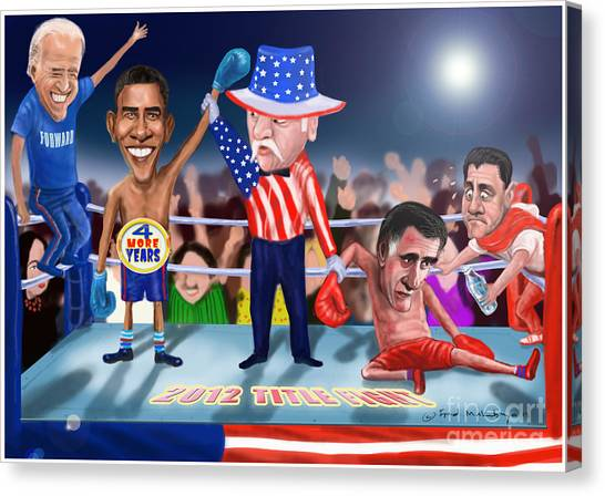 Joe Biden Canvas Print - America Wins by Fred Makubuya