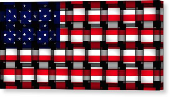American Abstract Canvas Print by L Brown