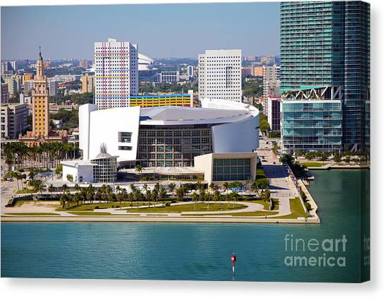Dwayne Wade Canvas Print - American Airlines Arena by Rick Bravo