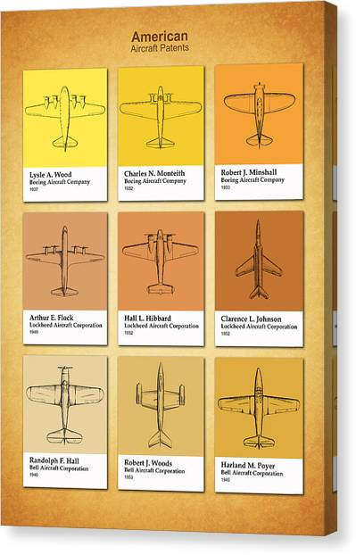 Boeing blueprint canvas prints pixels boeing blueprint canvas print american airplane patents by mark rogan malvernweather Gallery