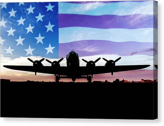 American B-17 Flying Fortress Canvas Print