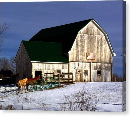 American Barn Canvas Print