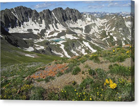 Colorado Rockies Canvas Print - American Basin by Aaron Spong