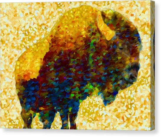 Yak Canvas Print - American Bison by Jack Zulli