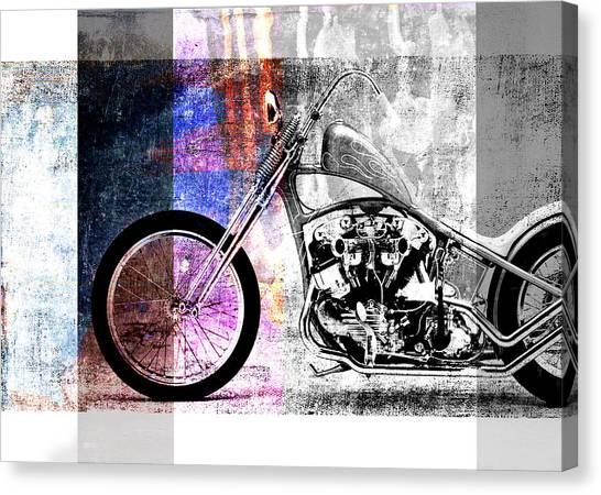 Choppers Canvas Print - American Chopper Bike by David Ridley
