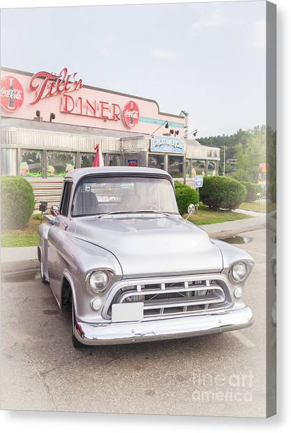 Diners Canvas Print - American Classics by Edward Fielding