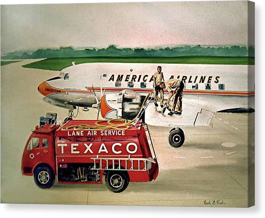 American Dc-6 At Columbus Canvas Print