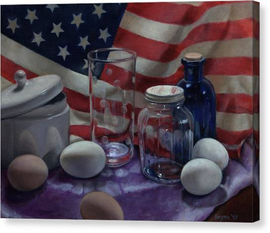 American Eggs Canvas Print