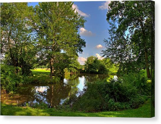 American Farm Pond Canvas Print
