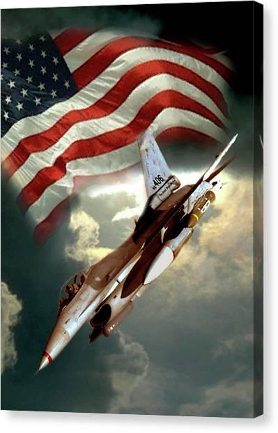 Fighters Canvas Print - American Feedom  by Regina Femrite