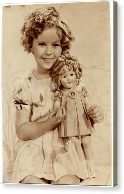 Shirley Temple Canvas Print - American Film Actress Shirley  Temple by Mary Evans Picture Library