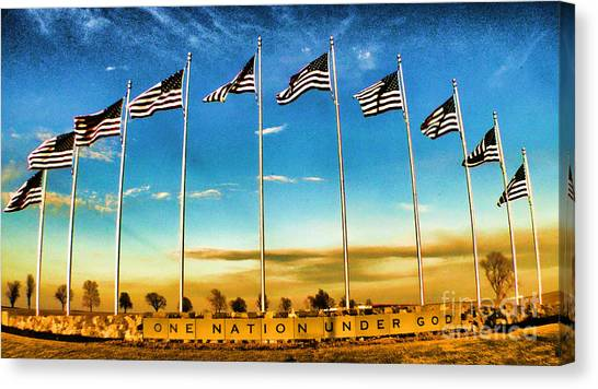 Libertarian Canvas Print - American Flag - Independence Day by Luther Fine Art