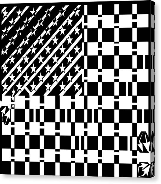 American Flag Maze  Canvas Print by Yonatan Frimer Maze Artist