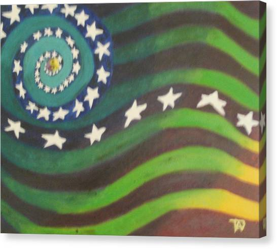 American Flag Reprise Canvas Print