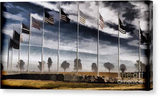 Libertarian Canvas Print - American Flag Still Standing by Luther Fine Art