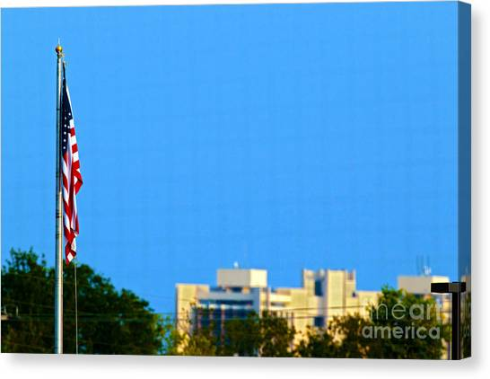 Illinois State University Canvas Print - American Flag Watterson 20140823001 by Alan Look