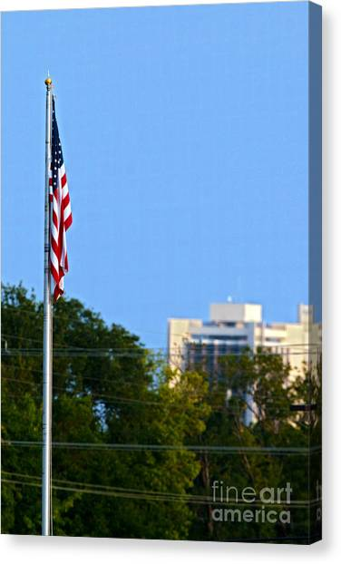 Illinois State University Canvas Print - American Flag Watterson 20140823003 by Alan Look