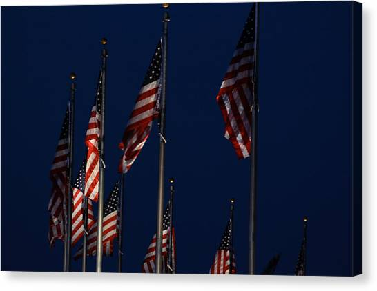 American Flags Canvas Print by DustyFootPhotography