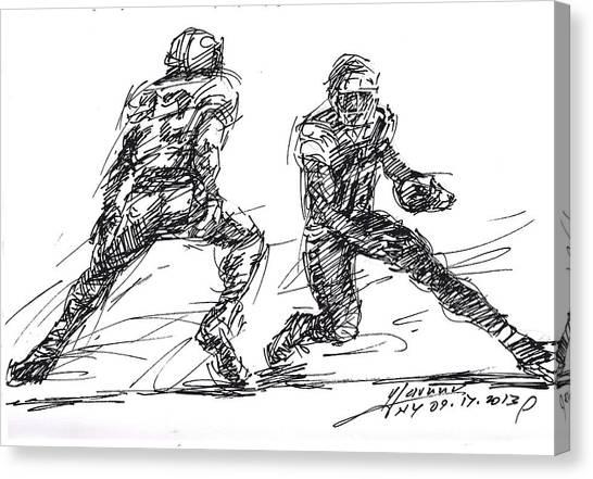 Landmark Canvas Print - American Football 3 by Ylli Haruni