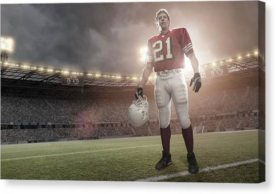 American Football Hero Canvas Print by Peepo