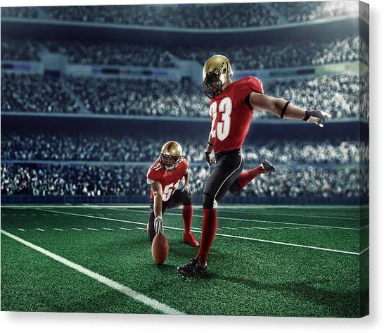 American Football Kick Off Canvas Print by Dmytro Aksonov