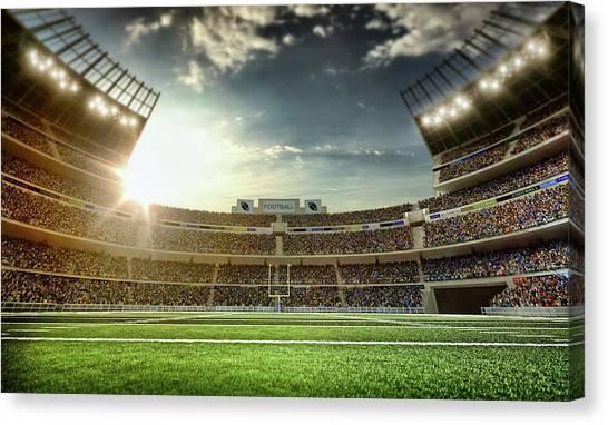 American Football Stadium Canvas Print by Dmytro Aksonov