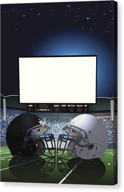 American Football Stadium Jumbotron Canvas Print by Keithbishop