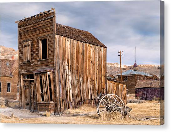 Bishop Hill Canvas Print - American Ghost Town Bodie by Kathleen Bishop