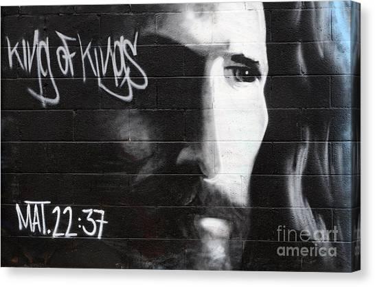 Graffiti Walls Canvas Print - American Graffiti New Mexico 3 by Bob Christopher