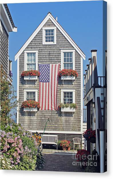 American Harbor House Canvas Print