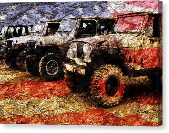 Jeep Canvas Print - American Jeeps by Luke Moore