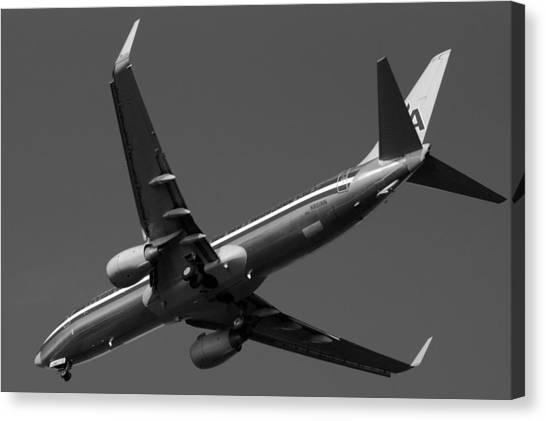 American Jet Landing Canvas Print