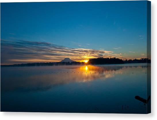 American Lake Sunrise Canvas Print