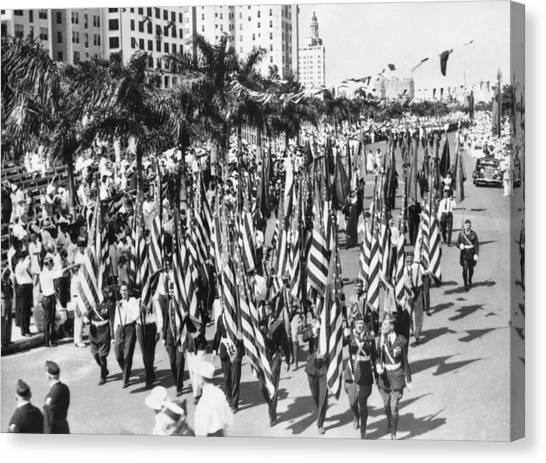 The Legion Canvas Print - American Legion Parade by Underwood Archives