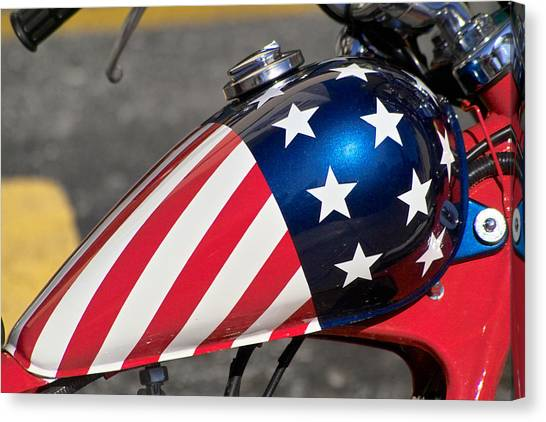 American Motorcycle Canvas Print