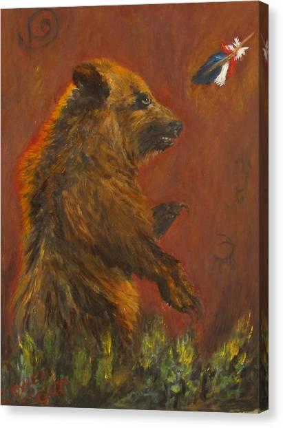 American Native Canvas Print by Caroline Owen-Doar